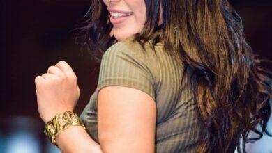 صورة ملكة جمال العرب علياء كامل باطلالة ساحرة بانامل خلود سليمان