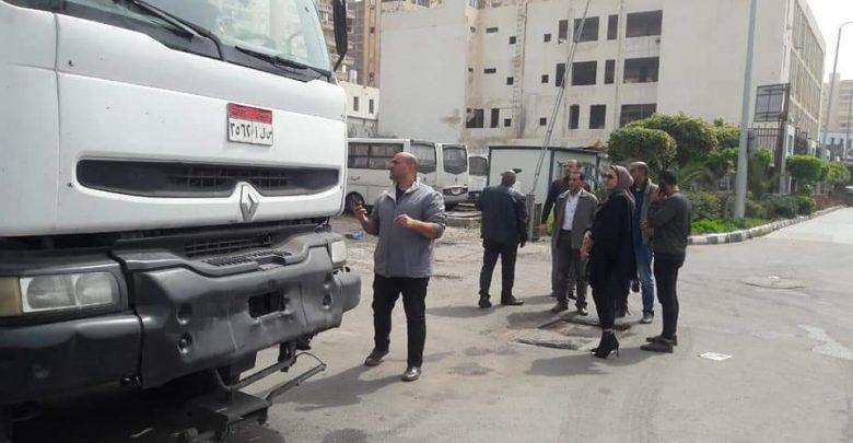 صورة البدء في تطهير وتعقيم ميناء الاسكندرية