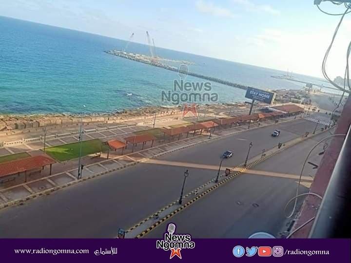 صورة الداخلية تسيطر على كورنيش الاسكندرية فى شم النسيم