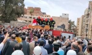 جنازة الشهيد المقدم محمد الحوفي