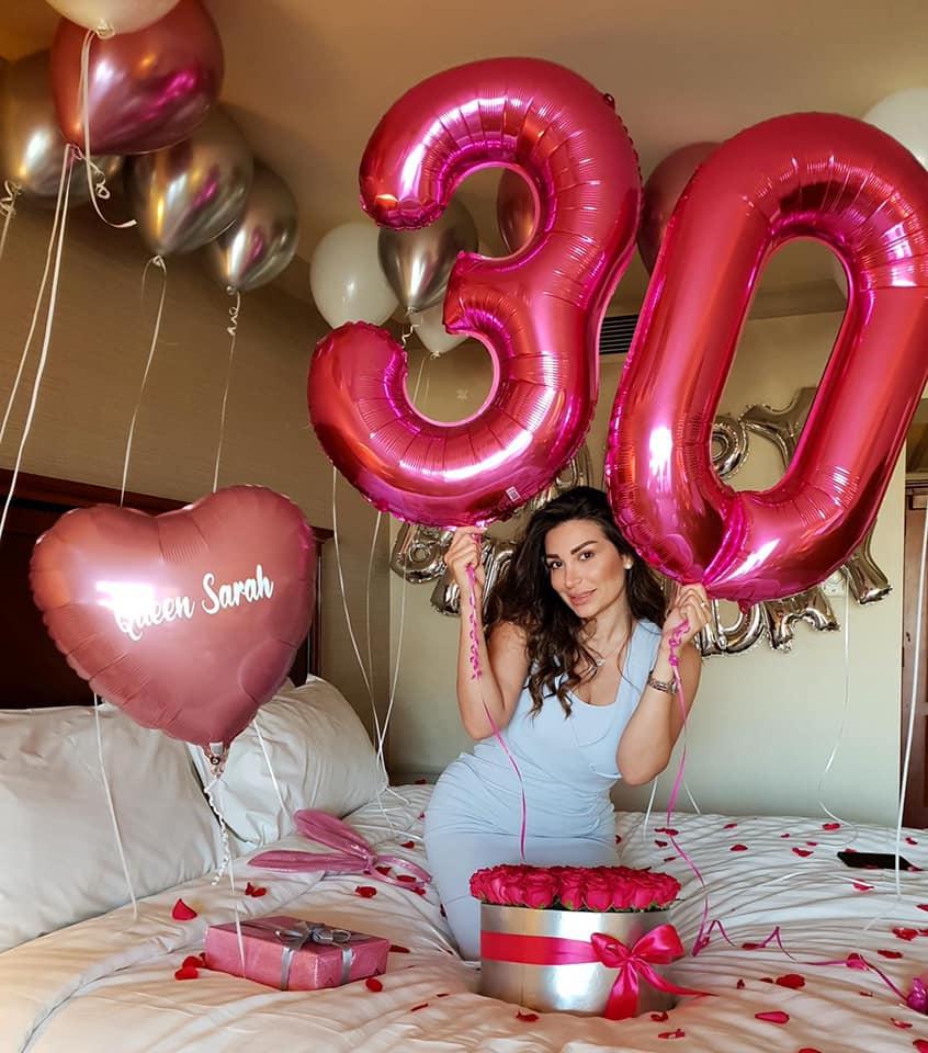 """صورة بالصور .. سارة نخلة تحتفل بعيد ميلادها وتتحدى """"كورونا"""""""
