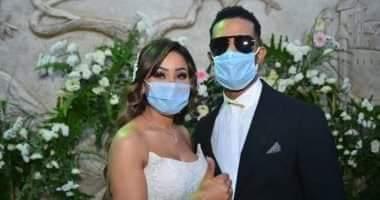 صورة القبض على حسام حامد زوج شقيقة محمد رمضان عقب إنتهاء حفل زفافه