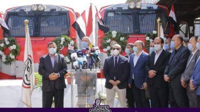 صورة وزير النقل يشهد الانطلاقة الجديدة للقطارات