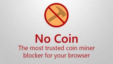 صورة اضافة المتصفح No Coin Block miners لمنع تعدين البيتكوين علي المتصفح